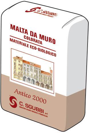 Malta pronta da allettamento per realizzare murature o intonaci