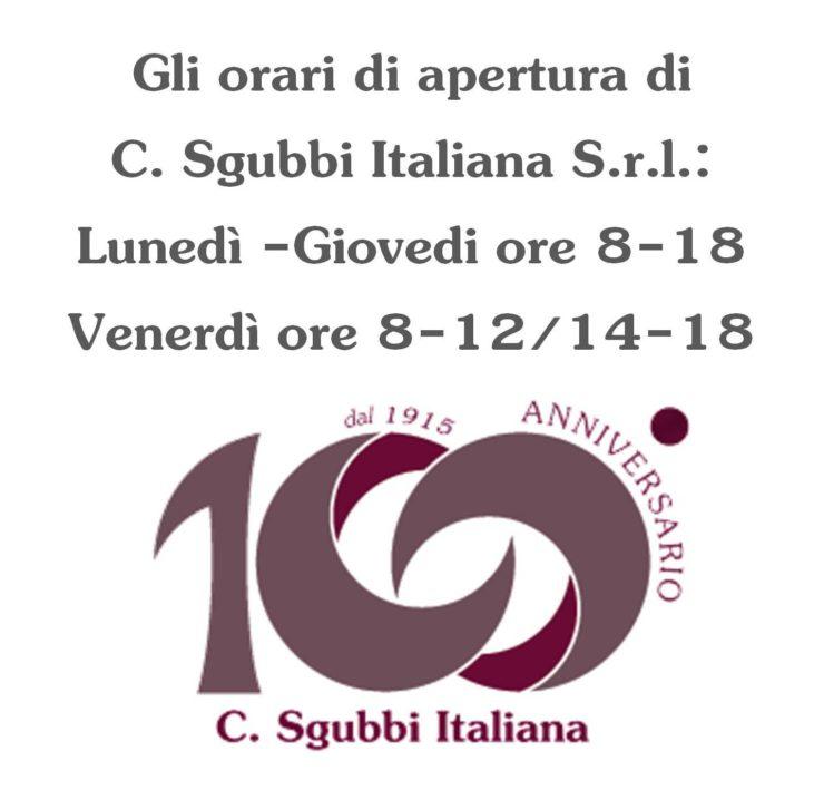 Orari di Apertura di C. Sgubbi Italiana